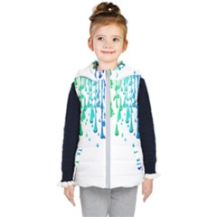 Paint Drops Artistic Kid s Hooded Puffer Vest by Sapixe