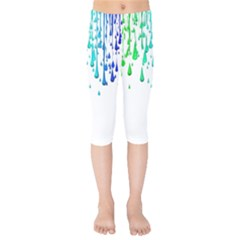 Paint Drops Artistic Kids  Capri Leggings  by Sapixe