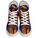 Paris Cityscapes Lights Multicolor France Men s Hi-Top Skate Sneakers View1