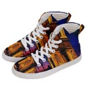Paris Cityscapes Lights Multicolor France Men s Hi-Top Skate Sneakers View2