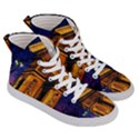Paris Cityscapes Lights Multicolor France Men s Hi-Top Skate Sneakers View3