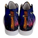 Paris Cityscapes Lights Multicolor France Men s Hi-Top Skate Sneakers View4