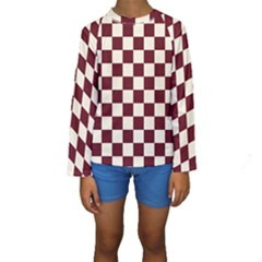 Pattern Background Texture Kids  Long Sleeve Swimwear