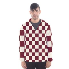 Pattern Background Texture Hooded Wind Breaker (Men)
