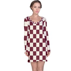 Pattern Background Texture Long Sleeve Nightdress