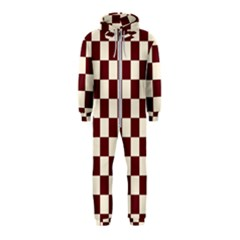 Pattern Background Texture Hooded Jumpsuit (Kids)