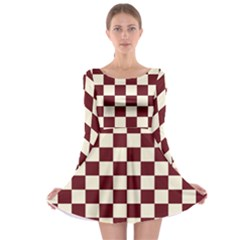 Pattern Background Texture Long Sleeve Skater Dress