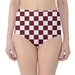 Pattern Background Texture High-Waist Bikini Bottoms