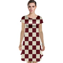 Pattern Background Texture Cap Sleeve Nightdress