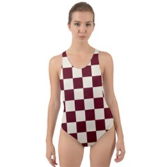 Pattern Background Texture Cut-Out Back One Piece Swimsuit