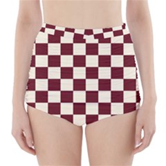 Pattern Background Texture High-Waisted Bikini Bottoms