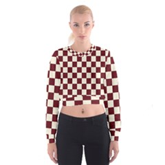 Pattern Background Texture Cropped Sweatshirt
