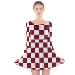 Pattern Background Texture Long Sleeve Velvet Skater Dress
