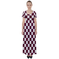 Pattern Background Texture High Waist Short Sleeve Maxi Dress