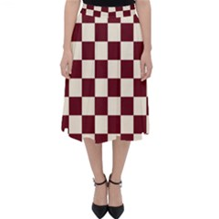 Pattern Background Texture Folding Skater Skirt