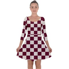 Pattern Background Texture Quarter Sleeve Skater Dress