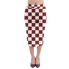 Pattern Background Texture Midi Pencil Skirt