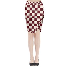 Pattern Background Texture Midi Wrap Pencil Skirt