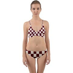 Pattern Background Texture Wrap Around Bikini Set