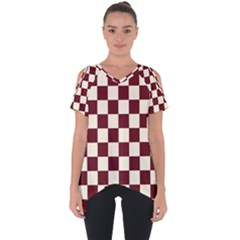 Pattern Background Texture Cut Out Side Drop Tee