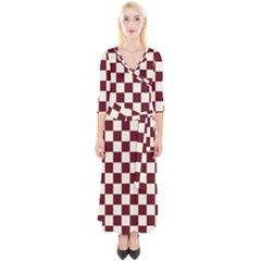 Pattern Background Texture Quarter Sleeve Wrap Maxi Dress