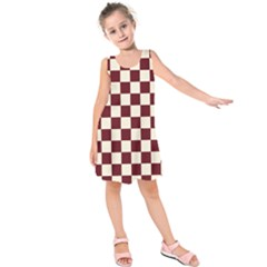 Pattern Background Texture Kids  Sleeveless Dress