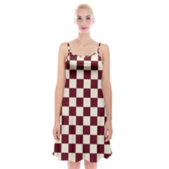 Pattern Background Texture Spaghetti Strap Velvet Dress