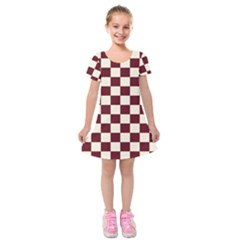 Pattern Background Texture Kids  Short Sleeve Velvet Dress