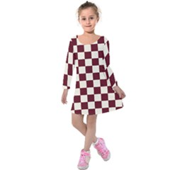 Pattern Background Texture Kids  Long Sleeve Velvet Dress