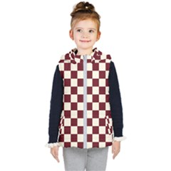 Pattern Background Texture Kid s Hooded Puffer Vest