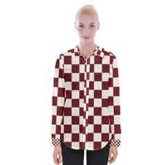 Pattern Background Texture Womens Long Sleeve Shirt