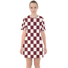 Pattern Background Texture Sixties Short Sleeve Mini Dress
