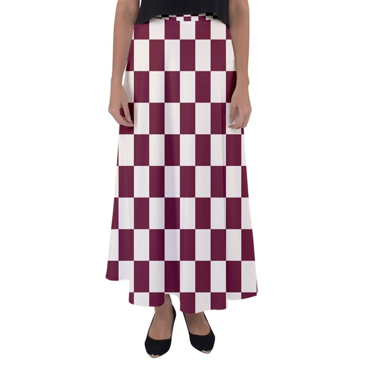 Pattern Background Texture Flared Maxi Skirt