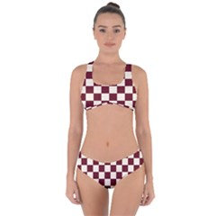 Pattern Background Texture Criss Cross Bikini Set
