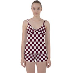Pattern Background Texture Tie Front Two Piece Tankini