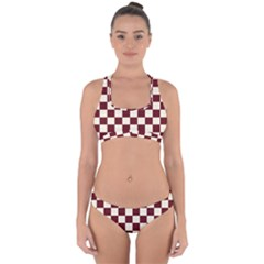 Pattern Background Texture Cross Back Hipster Bikini Set