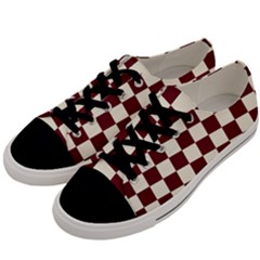 Pattern Background Texture Men s Low Top Canvas Sneakers