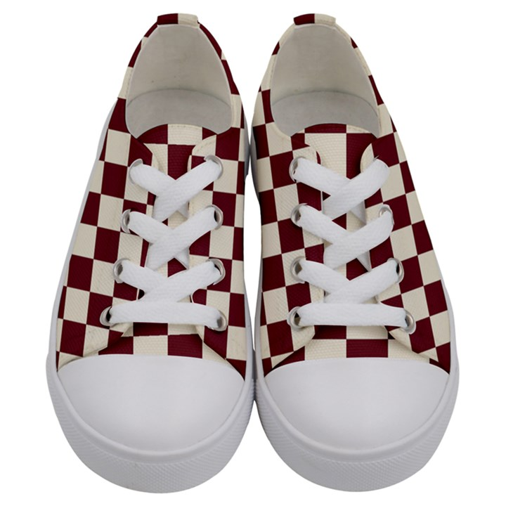 Pattern Background Texture Kids  Low Top Canvas Sneakers