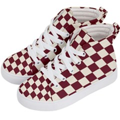 Pattern Background Texture Kid s Hi-Top Skate Sneakers