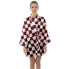 Pattern Background Texture Long Sleeve Kimono Robe