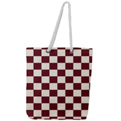 Pattern Background Texture Full Print Rope Handle Tote (Large)