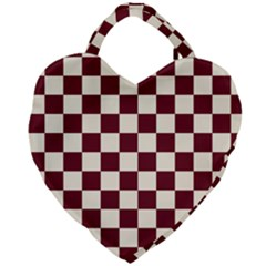 Pattern Background Texture Giant Heart Shaped Tote