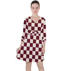 Pattern Background Texture Ruffle Dress