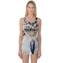 Owl Face One Piece Boyleg Swimsuit