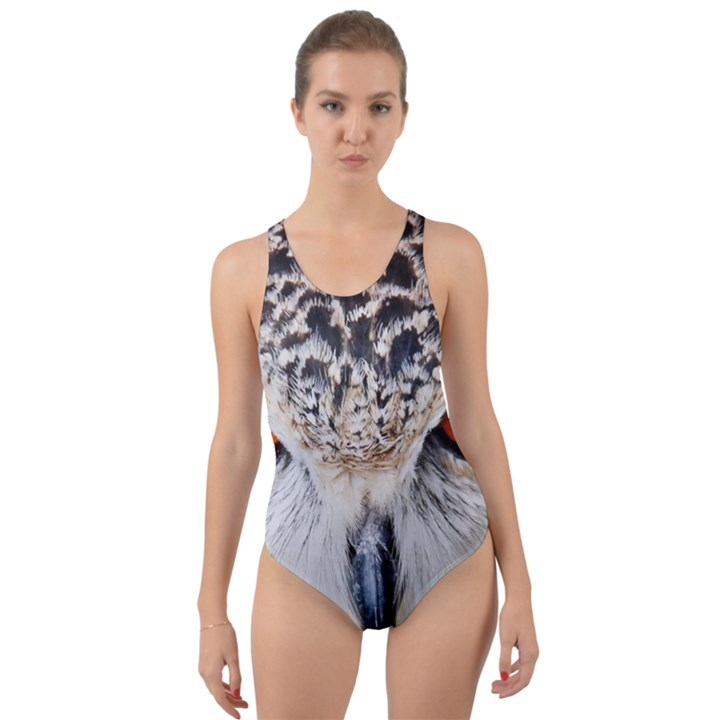Owl Face Cut-Out Back One Piece Swimsuit
