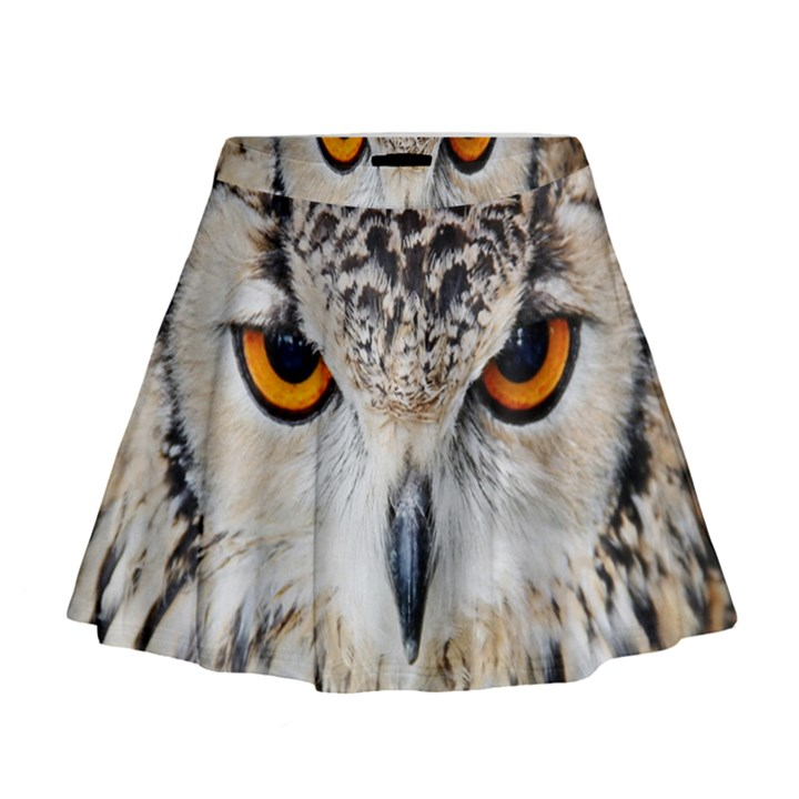 Owl Face Mini Flare Skirt