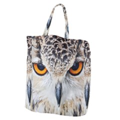 Owl Face Giant Grocery Zipper Tote by Sapixe