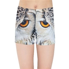 Owl Face Kids Sports Shorts by Sapixe