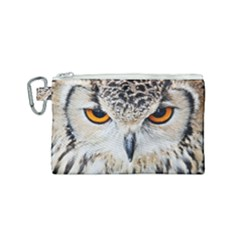 Owl Face Canvas Cosmetic Bag (small) by Sapixe