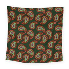 Pattern Abstract Paisley Swirls Square Tapestry (large)